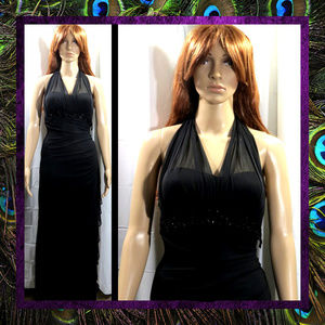 Black Evening Gown by Betsy & Adam #079